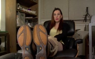 unwashed old worn pantyhose with boots domination
