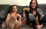 Duo Dom Barefoot Humiliation Jerk Off