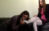 Melanie Forces Lucy to Smell and Lick her Feet