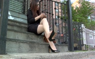 Thumbnail for Dangling Patent Anne Klein Pumps during my Lunch Break